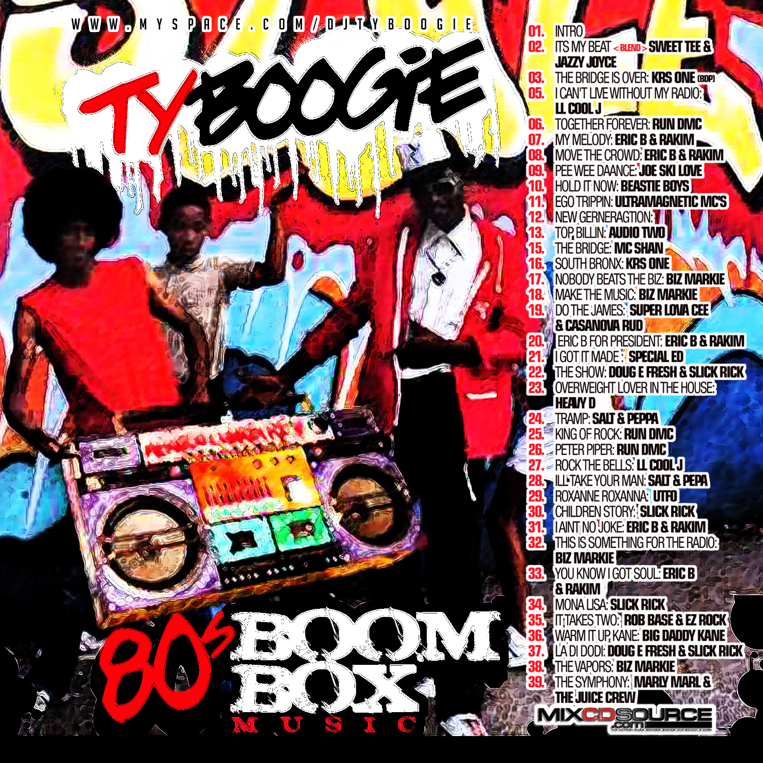 80 s boom box music dj ty boogie for Classic house music mixtapes